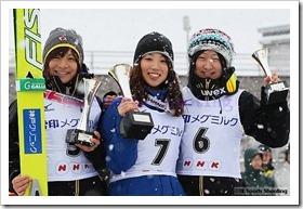 第52回NHK杯ジャンプ大会女子表彰