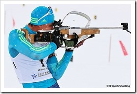 第8回札幌冬季アジア大会8日目 バイアスロンマススタート