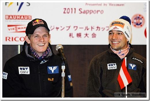 トーマス・モルゲンシュテルン、アンドレアス・コフラー FISジャンプワールドカップ2011札幌大会記者会見