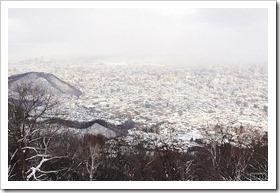 もいわ山頂駅展望台からの眺め