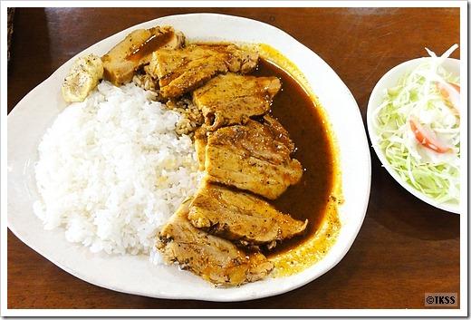 Puerco guisado con arroz (豚バラ肉の煮込みとライスのセット)Pa' Mi Casa (パ・ミ・カーサ)