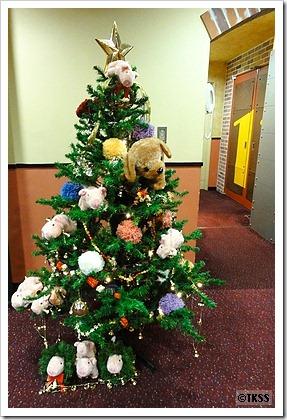 豚クリスマスツリー