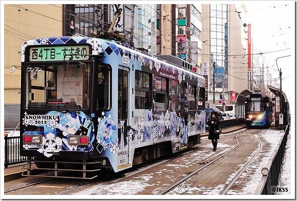 雪ミク電車2011