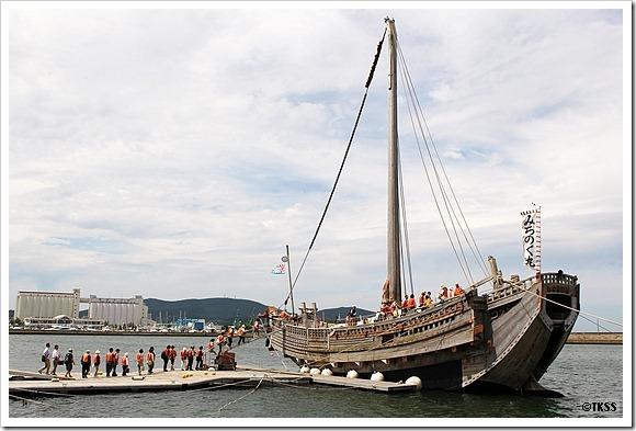 北前船「みちのく丸」 小樽回港