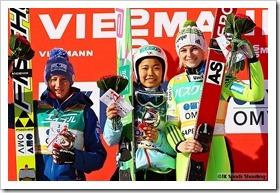 FISジャンプワールドカップレディース2015札幌大会:ダニエラ・イラシュコ、高梨沙羅、シュペラ・ロゲリ