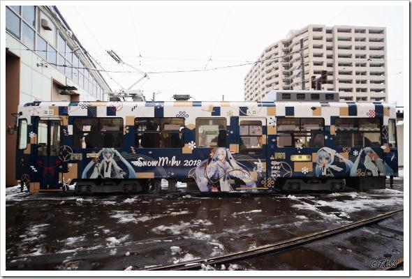 雪ミク電車2018