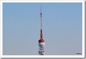 先の曲がった東京タワー
