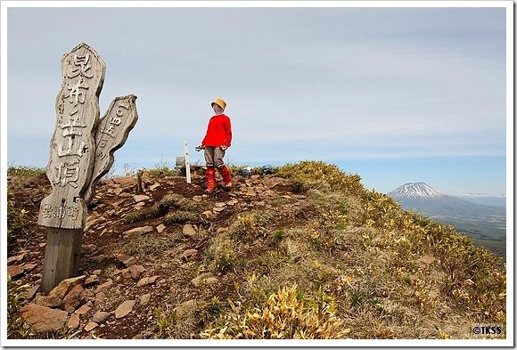 昆布岳山頂と羊蹄山