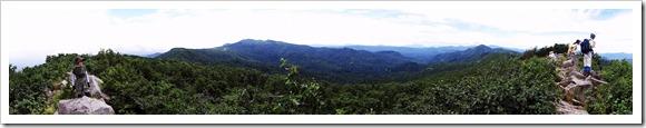 空沼岳山頂からのパノラマ写真