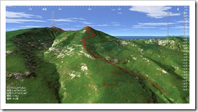 ホロホロ山から3km