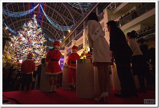 2009 ジャンボクリスマスツリー点灯式 サッポロファクトリー