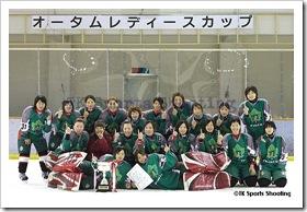 1位:岩倉ペリグリン(2009オータムレディースカップアイスホッケー大会)