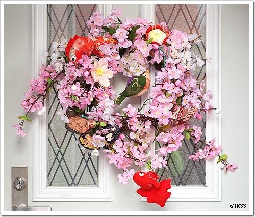 玄関フラワーリース 雛祭りバージョン2010