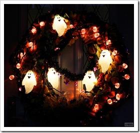 秋の玄関フラワーリース ハロウィンバージョン2010