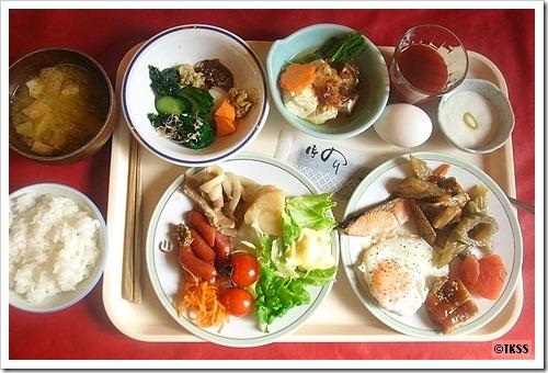 糠平温泉中村屋の朝食