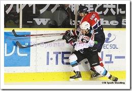 アジアリーグアイスホッケー 王子イーグルス vs 日本製紙クレインズ