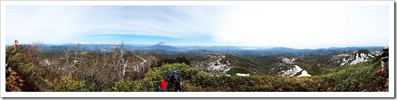 昆布岳山頂パノラマ