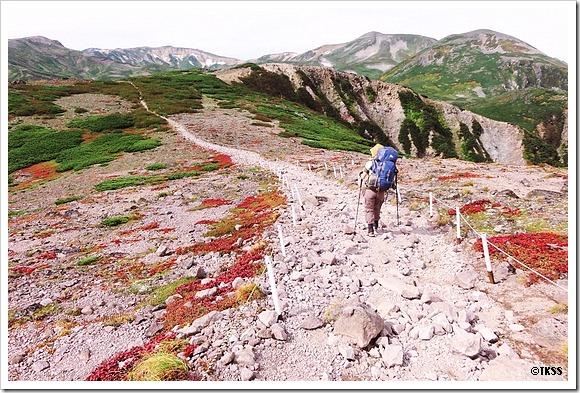 黒岳、北海岳、緑岳、白雲岳、小泉岳、赤岳縦走 1日目