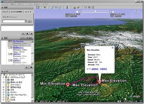黄金山登山データ