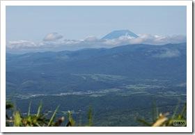 黒松内岳山頂から眺める羊蹄山