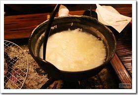 源泉粥(山湖荘 囲炉裏山賊料理)