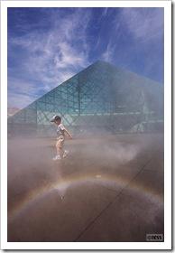 モエレ沼公園 ガラスのピラミッド「ミスト噴水」