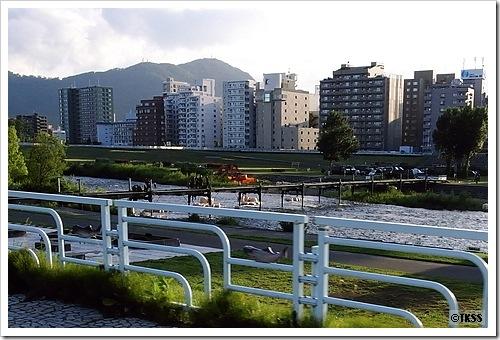 豊平川リバーフェスティバル仮設橋