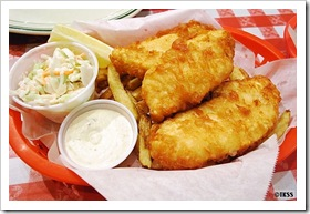 Beer Battered Fish(Haddock) and Chips