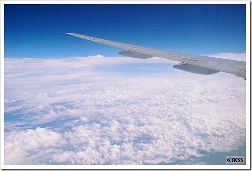 UA機内から