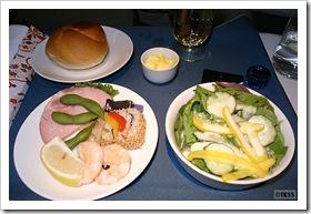 UAビジネスクラス機内食 前菜