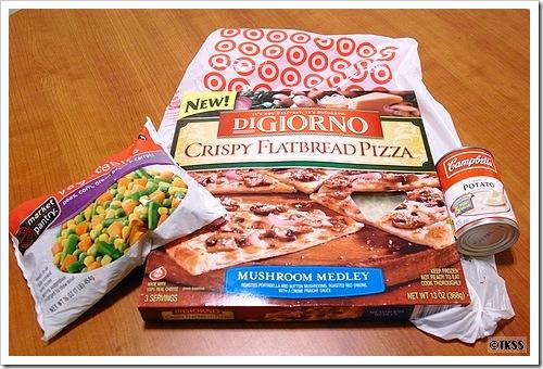 宿舎でピザ