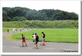 ローラースキー講習会@西岡バイアスロン競技場