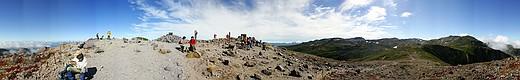 大雪黒岳山頂からのパノラマ