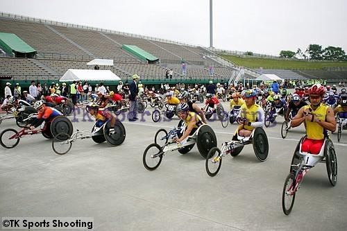 車椅子マラソン スタート前