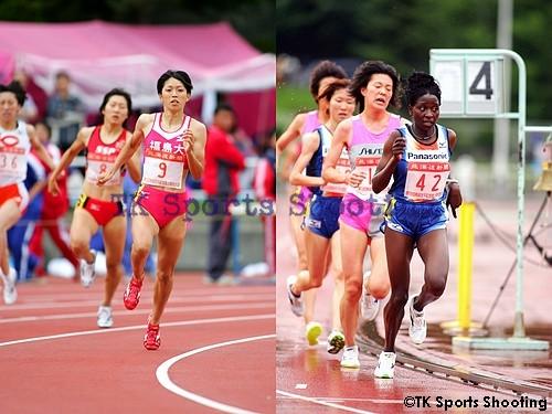 女子400m、女子5000m