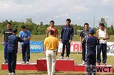 男子チームスプリント表彰