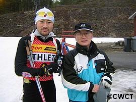 蛯沢選手と米田先生