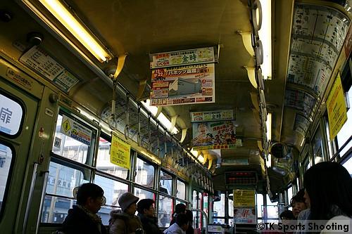 函館市電車内