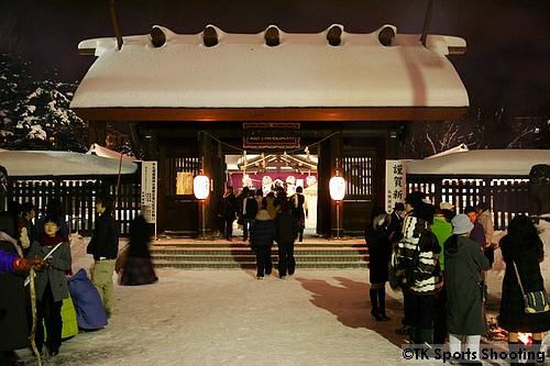 初詣 護国神社