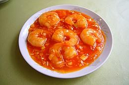 千焼蝦:芝エビのチリソース煮