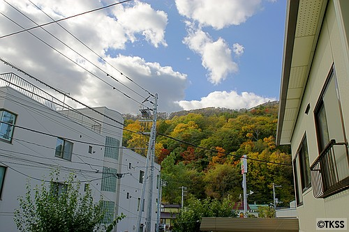 紅葉の藻岩山 HDR