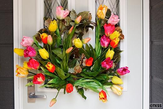 春の玄関リース