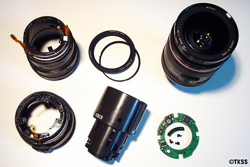 EF24-70mm F2.8L USM の中身