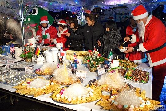 「2008北海道洞爺湖サミット開催8カ国の各国料理試食会」 Holy Light Christmas in TOYA