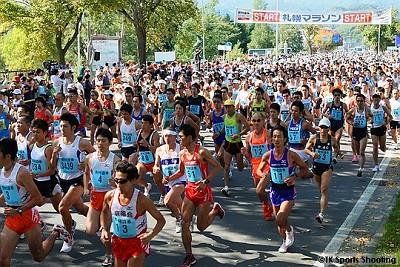 札幌マラソン ハーフスタート
