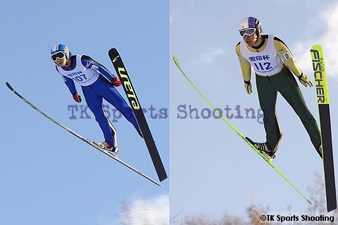 第49回 雪印杯全日本ジャンプ大会 成年組2位:細山周作、2位:田中翔大