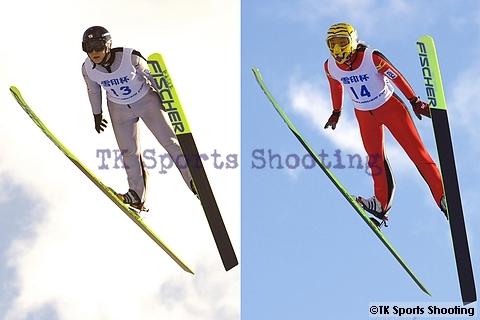 第49回 雪印杯全日本ジャンプ大会 女子組2位:渡瀬あゆみ、3位:伊藤有希