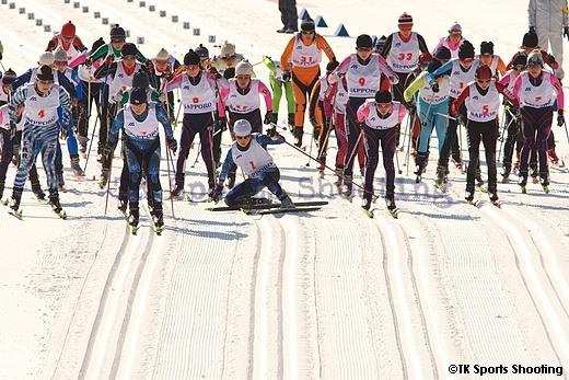 第86回全日本スキー選手権大会クロスカントリー競技最終日女子パシュート