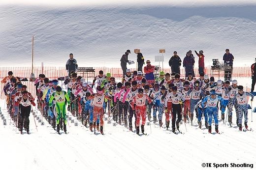 第86回全日本スキー選手権大会クロスカントリー競技最終日男子パシュート