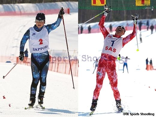 第86回全日本スキー選手権大会クロスカントリー競技最終日 優勝:石田正子、金丸富男
